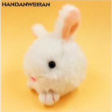 1PCS Mini Rabbit plush toys keychain fine rabbit phone bag Pendant Cartoon Animal Stuffed Plush small pendant for girl 7cm