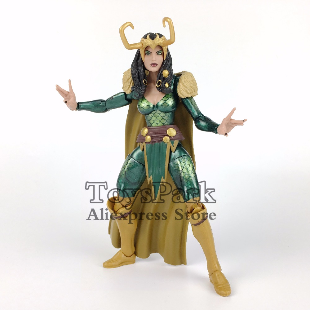 ToysPark Marvel Legends Series 6 LOKI Lady Heroines Action Figure From 2017 SDCC A Force TRU Exclusive Collectible Loose