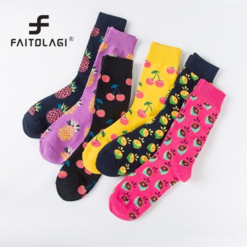Underwear & Sleepwears Harajuku Vintage Women Crew Socks Funny Fruit Cherry Pineapple Sock Girls Streetwear Skateboard Socks Couple Woman Men Long Sock Crease-Resistance