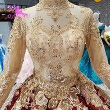 Aijingyu 웨딩 드레스 투명 레이스 가운 판매 멕시코 중국 세관 놀라운 새틴 볼 드레스 웨딩 드레스 스타일