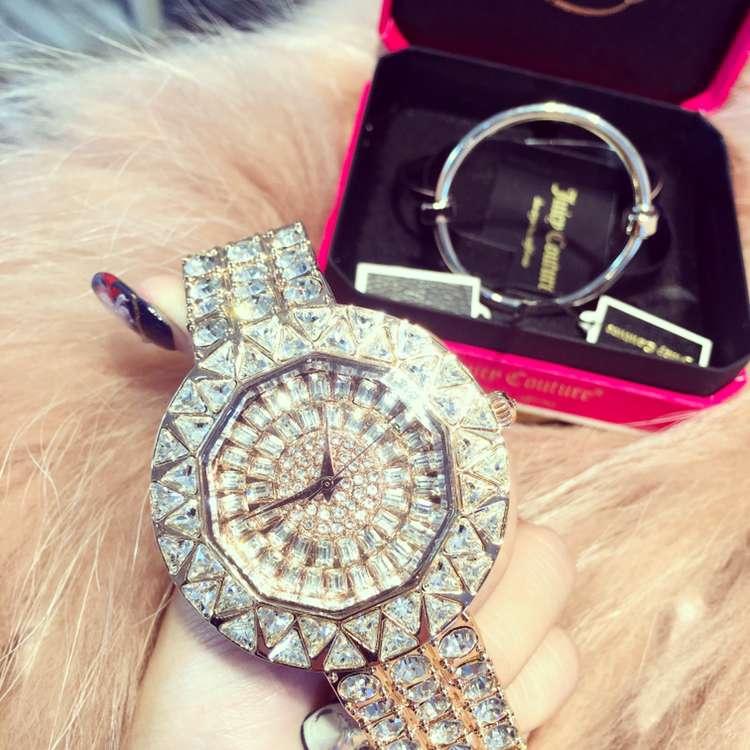 ФОТО 2017 Luxury Ladies Fashion Quartz Watch Women Rhinestone Casual Dress Wristwatch Rose Gold Crystal reloje mujer montre femme