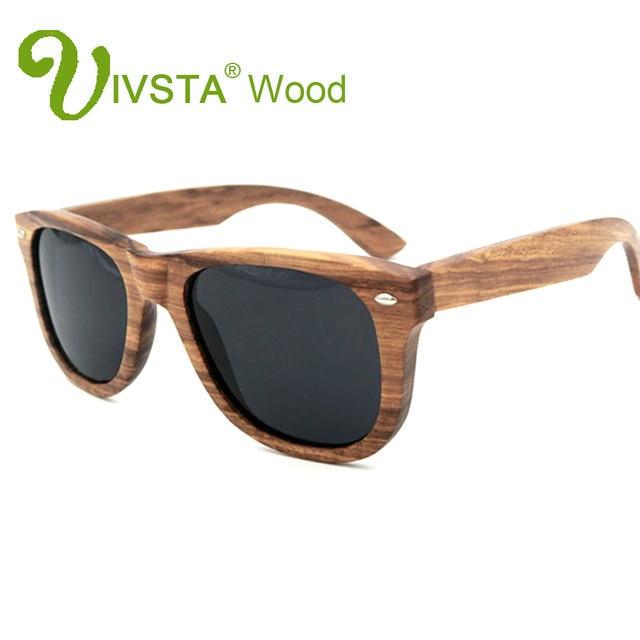 c4151fe3707 IVSTA Real Zebra Wood Sunglasses Wood Frame Sunglasses Men Polarized Lenses  Polaroid Women Handmade Wholesale Custom