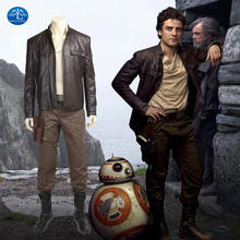MANLUYUNXIAO Star Wars 8 Cosplay Costume Poe Dameron Cosplay Costume Adult Full Set Halloween Costumes For Men Custom Made