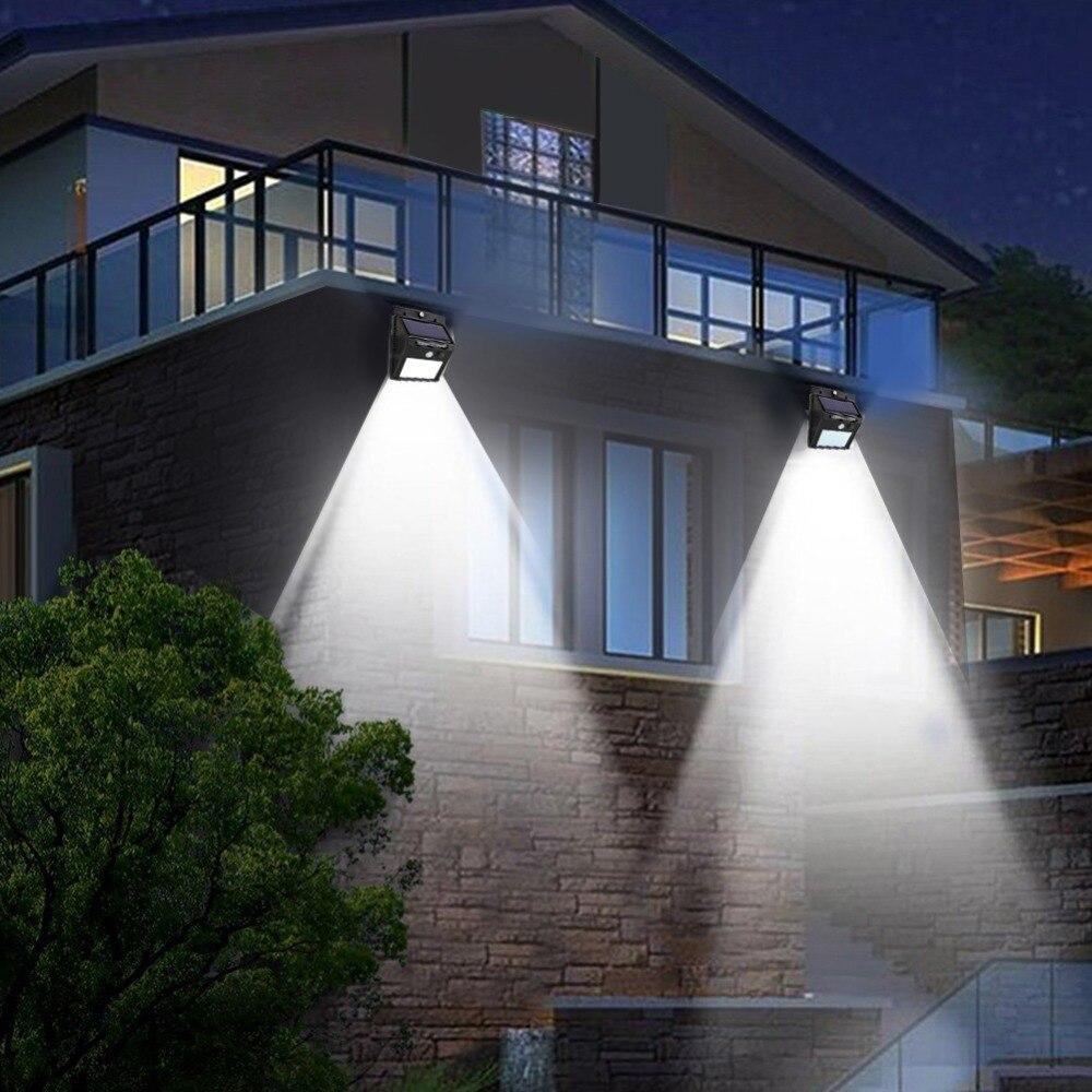 Solar licht Outdoor Garten Sicherheit Led Solar Powered Panel Lampe Wand Lampada PIR Motion Sensor Wasserdichte IP65 Dekorative