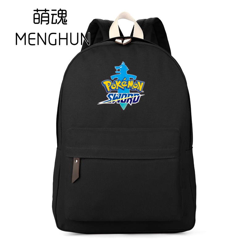 Pokemon fans backpack New game sword backpacks shield bag schoolbag canvas anime durable