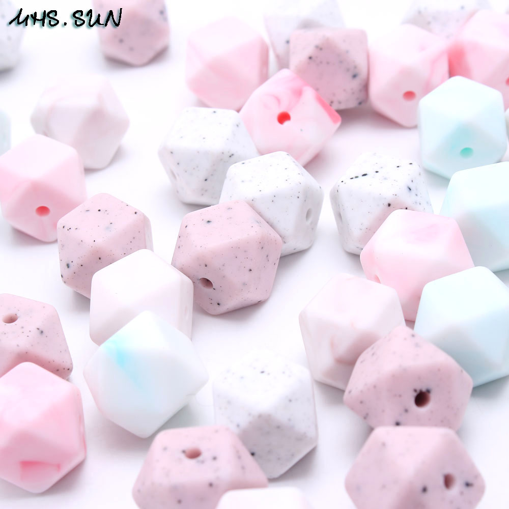 PINK MARBLE SQUARE TEETHER