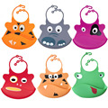 Baby Washable Silicone Feeding Bibs Lovely Cartoon Infant Adjustable Kid Bib Fun Characters Waterproof Feeding Accessories