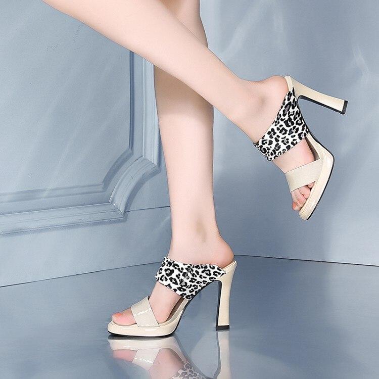 Sandalias De Genuino Zapatillas Las Verano Tacones Mujeres Cuero Calidad 2019 Alta Zapatos rojo Beige Nuevos Mujer EFqx7WxPgO