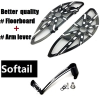Black For Harley Softail Fatboy Floorboards Brake Arm Lever Motorcycle Harley Parts 2000 2016 Harley Motor