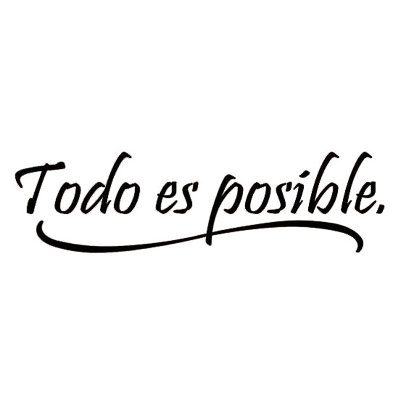 W199 Everything Is Possible Spanish Inspiring Quotes Wall