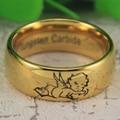 ЮГК Tungsten Ring ЮГК ЮВЕЛИРНЫЕ ИЗДЕЛИЯ Горячие Продажа 8 ММ Золотой Цвет купол Прекрасный Ангел Любовь Моя Новая мужская Господь Tungsten Wedding кольцо