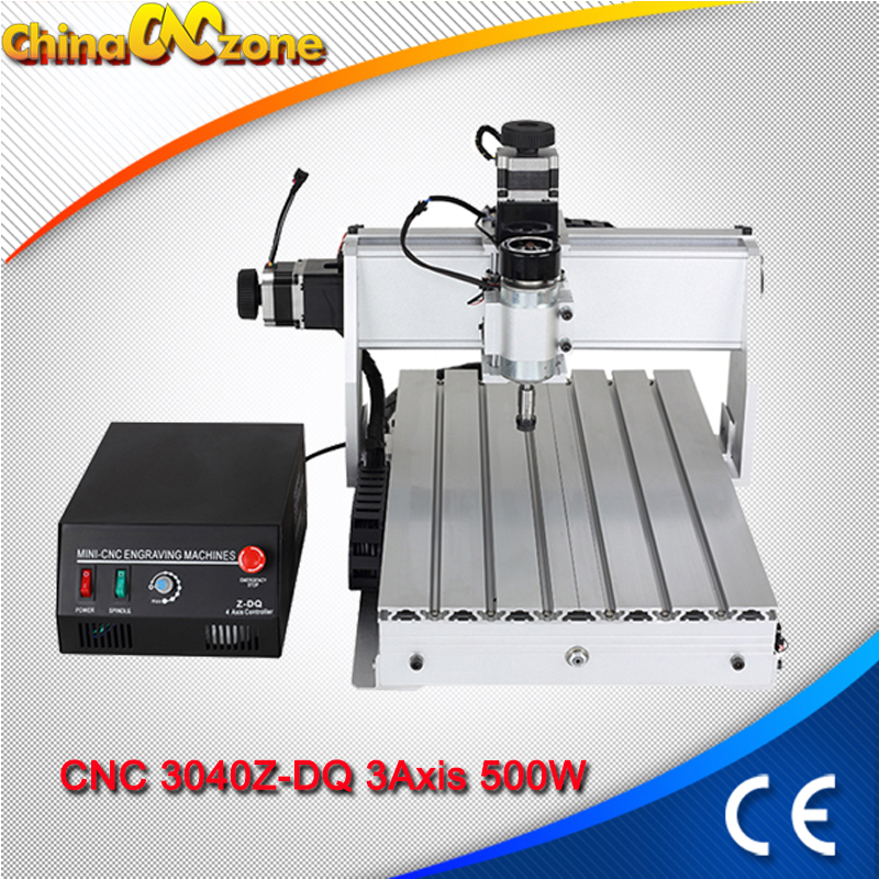 CNC 3040z USB 4axis CNC 3040 500W Router Wood Engraver Ball Screw Cutting Milling Drilling Engraving Machine Mini Manufacturer-in Wood Routers from Tools    1
