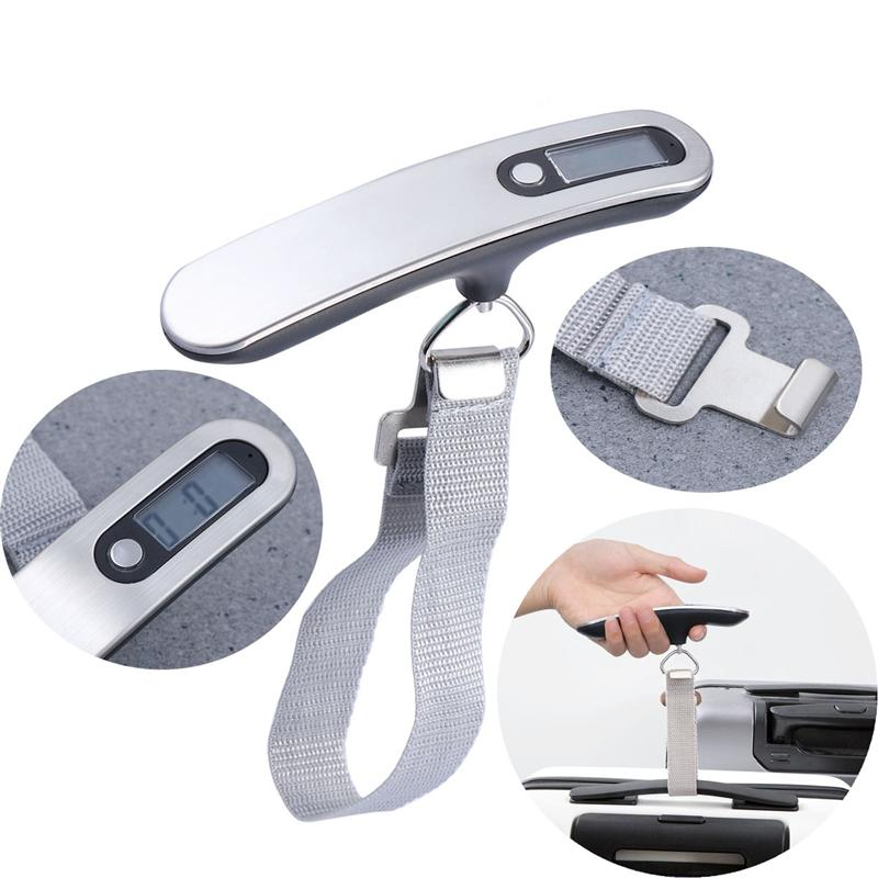 1 PC Digital Luggage Scale With 50KG Capacity Portable Luggage Sacale With Backlight LCD Display For Home Outdoors Black White in Tool Parts from Tools