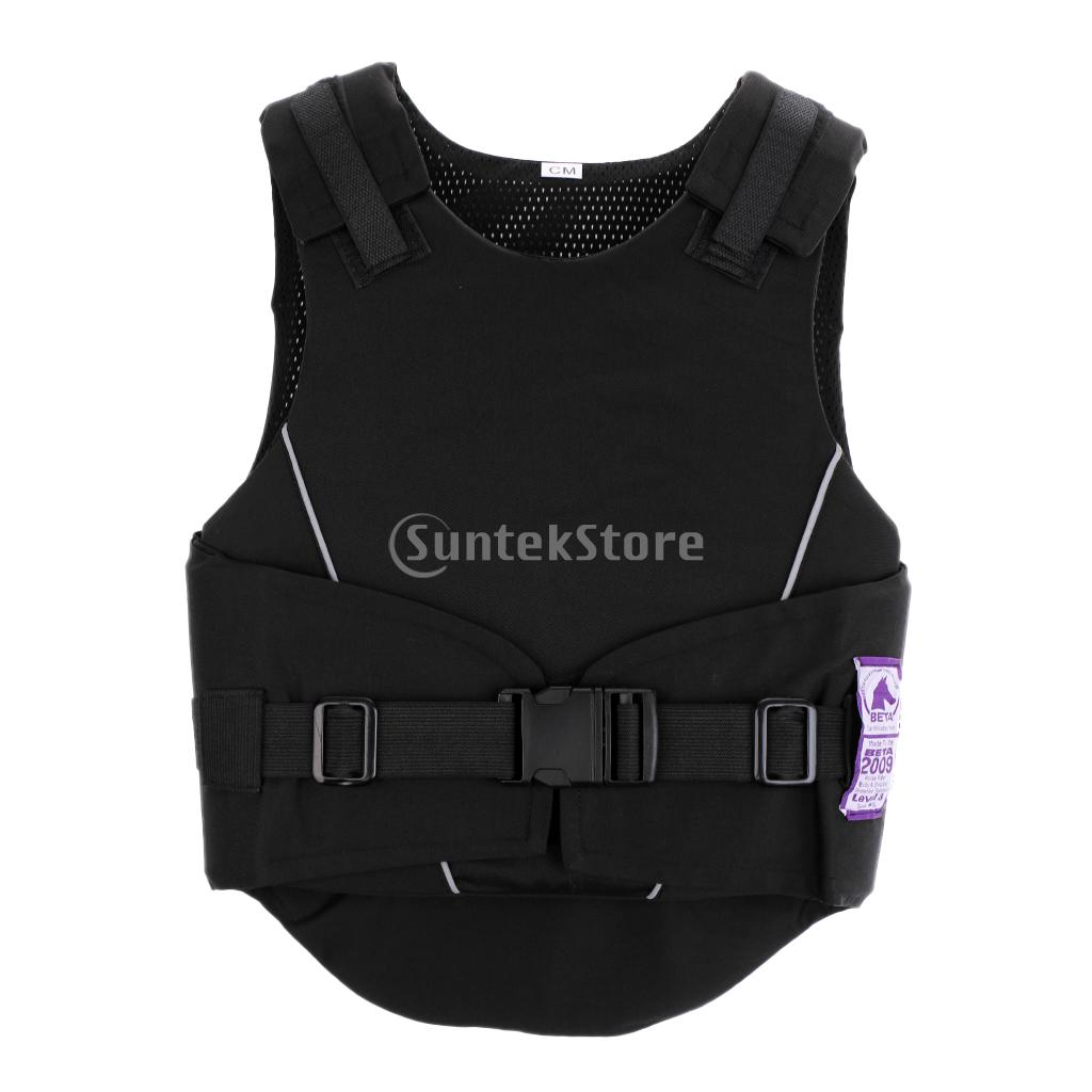 New Flexible Body Protective Gear Equestrian Horse Riding Vest Kids Black M - Comfortable and Breathable Waistcoat adjustable pro safety equestrian horse riding vest eva padded body protector s m l xl xxl for men kids women camping hiking