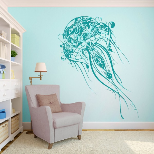 Jellyfish Beatiful Abstract Decal Extra Large Vinyl Wall Decal - Vinyl wall decals abstract