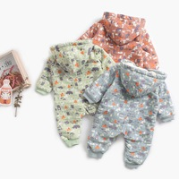 100% cotton baby winter clothes Plus velvet Thicken new born baby clothes toddler girl winter clothes baby boy winter clothes
