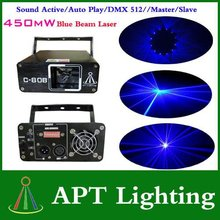 NEW Great Promotion with Special price Blue 450mW Beam Laser  Laser Disco DJ Party Laser free shipping