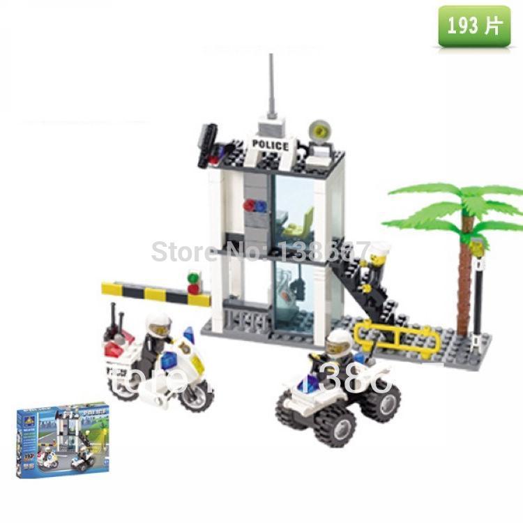 learning & education Kazi 6728 Police posts Building Block Set 193pcs Figures Bricks Boys Toys lego compatible