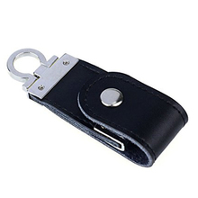 Black USB3.0 Business Leather Flash Drive Memory Stick U-Disk 64GB