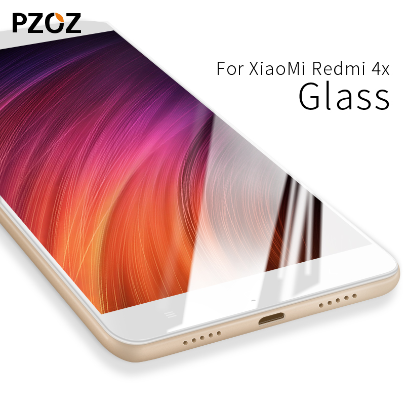 Pzoz xiaomi redmi 4x glass tempered cover prime screen protector 9h for redmi 4x glass Clear phone xiomi redmi4x film mi 4x 5.0