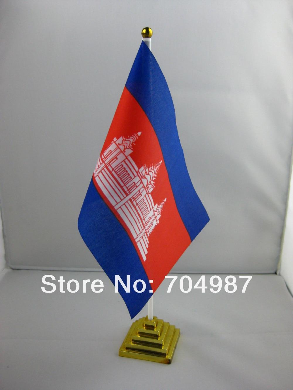 3x5ft Kambodscha Flagge Fliegen Flagge #4 144x96 #1 288x192 #2 240x160 #3 192x128 #5 96x64 #6 60x40 #7 30x20 Ks-0086-c