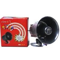 Automotive Truck Vehicle Loud Horn 12V 110dB Siren 6 Sound Speaker Megaphone Alarm Security Horn Warning Alarm Loudspeaker