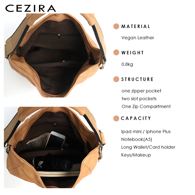 CEZIRA Womens Bag Single Shoulder Bag New Handbag of 2018 Flower Tassel Large Capacity Hobo Female Round Shoulder&Messenger Bag 4