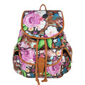 Women National Style Canvas Backpacks Flower Print European and American Fashion School Students bags for teenage girls Mochilas