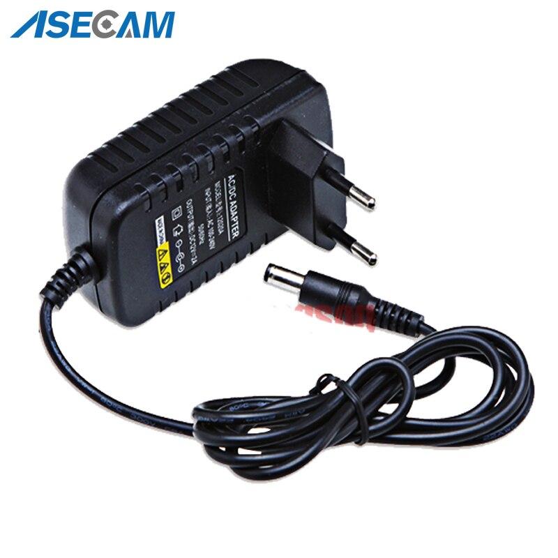 AC 100V-240V Converter Adapter DC 12V 2A 2000mA Power Supply EU US UK AU Plug 5.5mm*2.1mm for CCTV IP Camera System