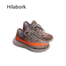 2017 spring new children's shoes anti-skid low to help run shoes before fashion with knitted boys and girls leisure sports shoes