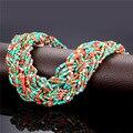 Colar apelativo bohemian jóias & gift box 2016 moda contas de coral sintético choker big colar para as mulheres do partido maxi n396