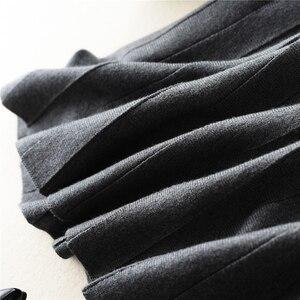 Image 5 - 秋冬新着 2018 女性のファッショントレンドハイウエスト A ラインのロングスカートカシミヤブレンドニットスカートマキシスカート