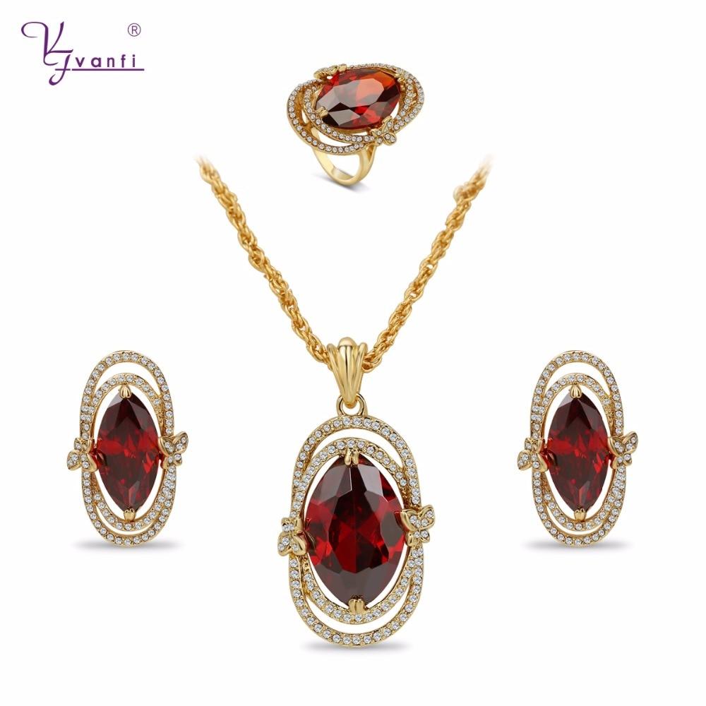 Fine turque Vintage Antique or colliers boucles d'oreilles anneaux ensembles de bijoux pour les femmes de fiançailles