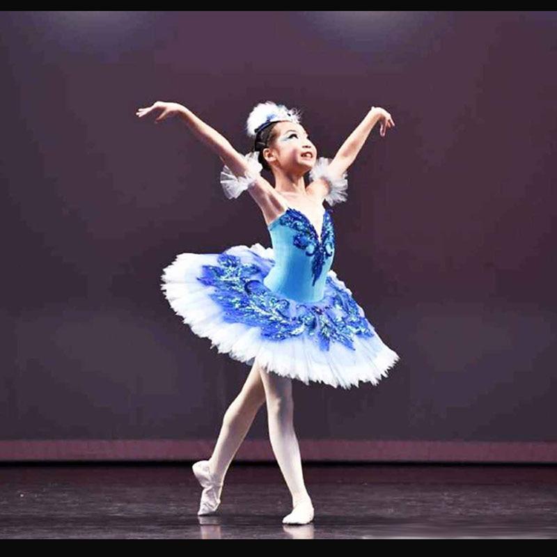 Customized Girl Blue Bird Ballet Tutu Dresses Ballet Dress Design Dance Tutu Best Selling Anna Shi