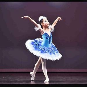 Image 1 - Dostosowane najlepiej sprzedających się Anna Shi klasyczne elastan etap Tutu/dziewczyna niebieski ptak baletowa spódniczka Tutu sukienki, sukienka baletowa projekt Tutu do tańca