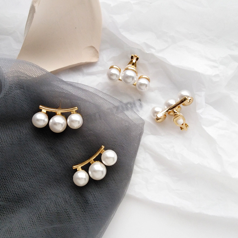 Fancy Jewelry Gold Plating With Pearls Stud Earring For Woman Earrings Girl Gifts Handmade Fine Jewelry 2019