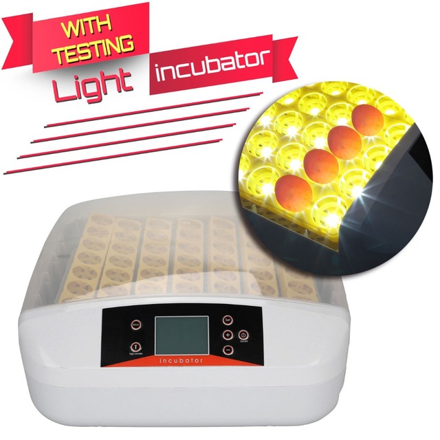(Ship from USA) Digital 56 Egg Incubator Fully Auto Turning Chicken Eggs Poultry with Testing Light
