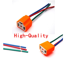 car styling 10PCS H4-2B ceramic Car lamp connector with cable H4 Auto Headlight plug For Halogen HID LED Lamp Auto Adapter