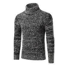 Weihnachten Pullover Rollkragen Männlichen Pullover Fashion Warm Slim Fit Langarm Patchwork Yeezy Beiläufige Gestrickte Pullover Schwarz