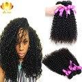 Малайзии Девы Волос 4 Связки Много 7А Необработанные Девственные Волосы Малазийский Странный Вьющиеся Волосы, Дешево Человеческих Волос Weave Продажа очень Мягкий