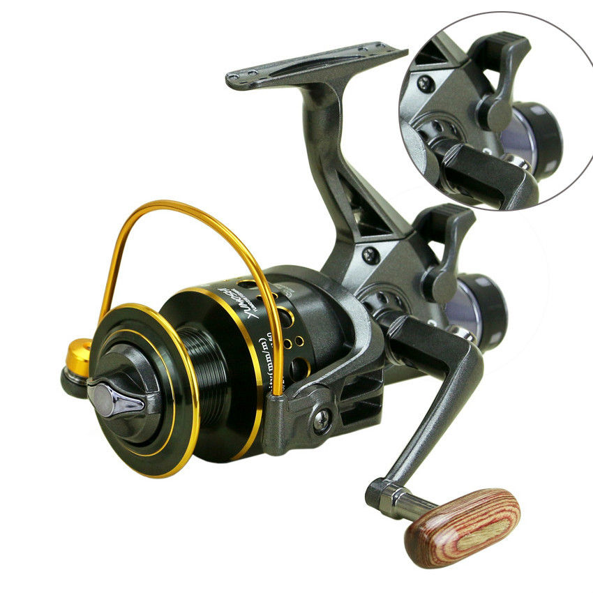2018 New Double Brake Spinning Fishing Reel Super Strong Carp Fishing Feeder Spinning Wh ...
