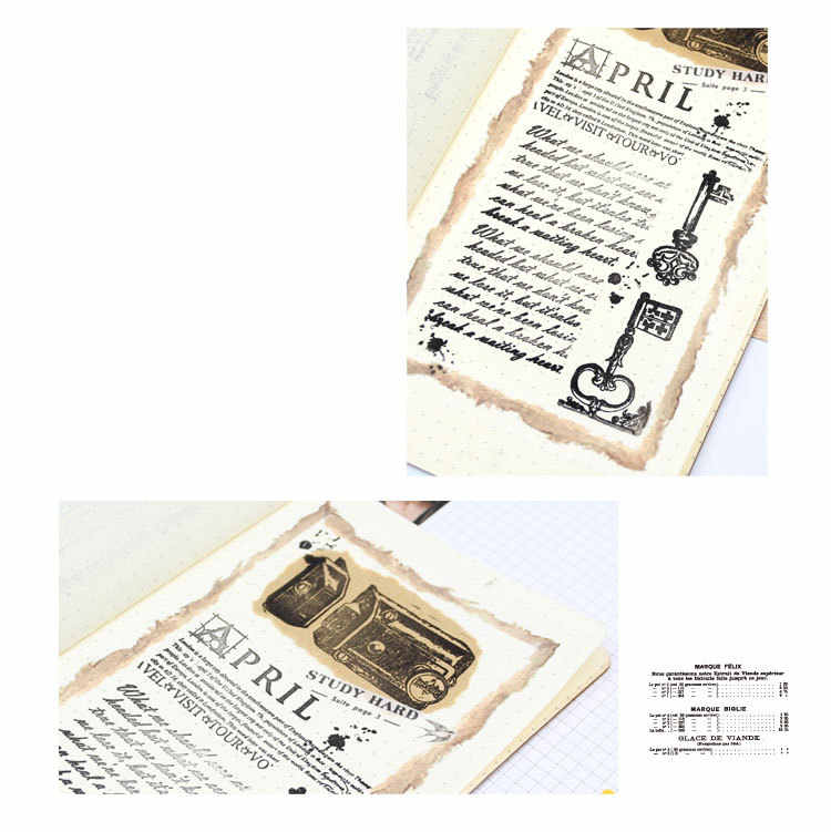 Vintage serrure clé porte Transparent clair Silicone timbre/joint pour bricolage Scrapbooking/Album photo décoratif artisanat timbre feuilles F4119