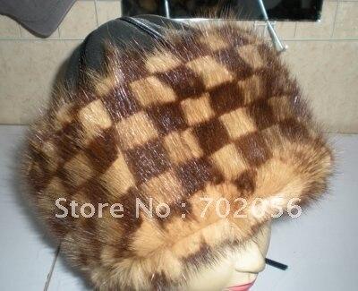 Mink Mongolia hat Cap Thick Warm #2309