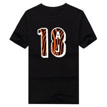 Cool print 2017 AJ Green Cincinnati 18 logo T-shirt 100% cotton short sleeve o-neck T shirt 1020-2