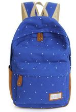 2016 nouvelle vente chaude Style toile points impression Quotidienne école student book sacs sacs à dos De Mode femmes collège sac à dos