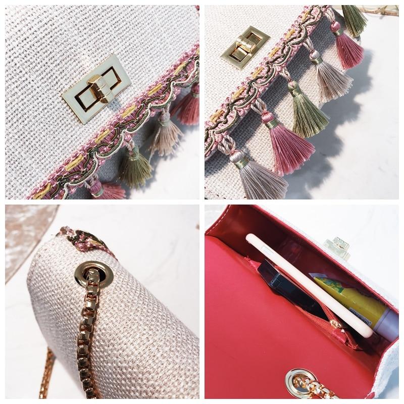 SUNNY SHOP Small Shoulder Bag Chain Handbag Women Summer Bag Elegant Female Crossbody Bag Tassel National Designer Boho 41