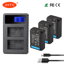 JHTC 3pcs NP-FW50 NP FW50 NPFW50 Battery Akku+LCD Dual USB Charger for Sony Alpha a7II a7R a7RII a7SII a5100 a6300 a6500 NEX-5T 3pcs np fw50 np fw50 camera battery lcd usb dual charger for sony alpha a7r2 a6500 a6300 a6000 a5100 a5000 a3000 nex 5t 5t 5r