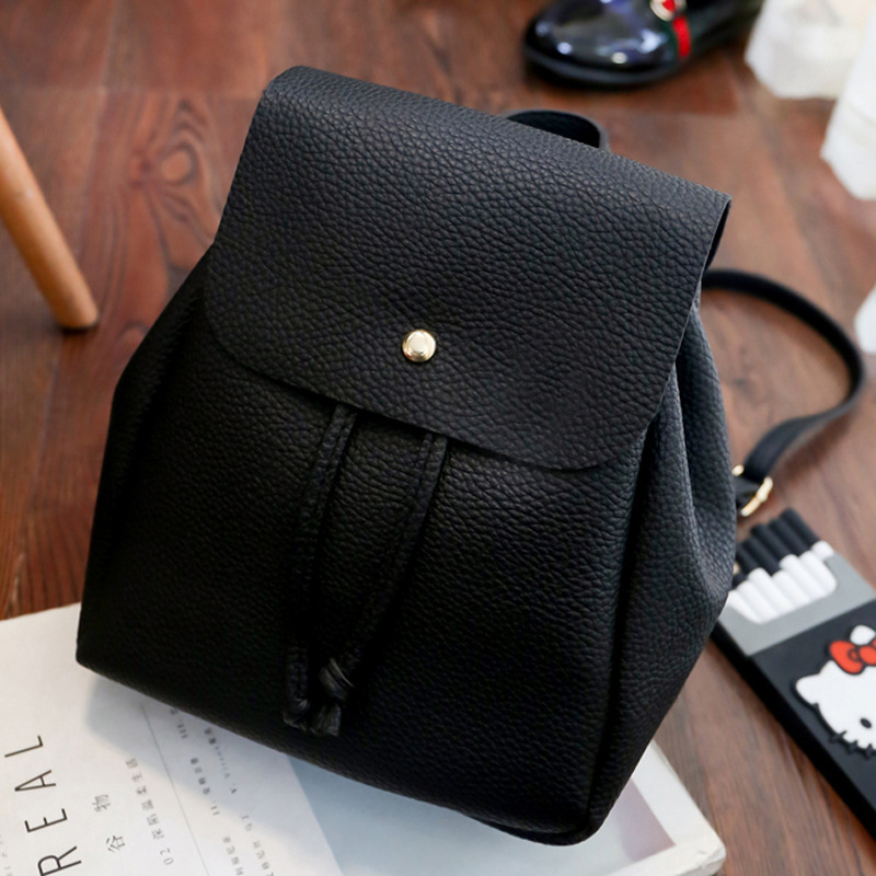Latest Fashion  Women Sweet Simple Style Frosting Pu Leather Street Travel Office Double Shoulder Mini Bag Backpack Lady Gift 12mm waterproof soprano concert ukulele bag case backpack 23 24 26 inch ukelele beige mini guitar accessories gig pu leather