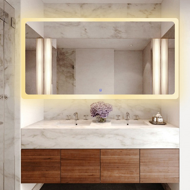 Bathroom Intelligent led Mirror Wall Lamp Fog-proof Toilet Bathroom led Mirror Beauty Cosmetology Salon Wall Mirror With Lights