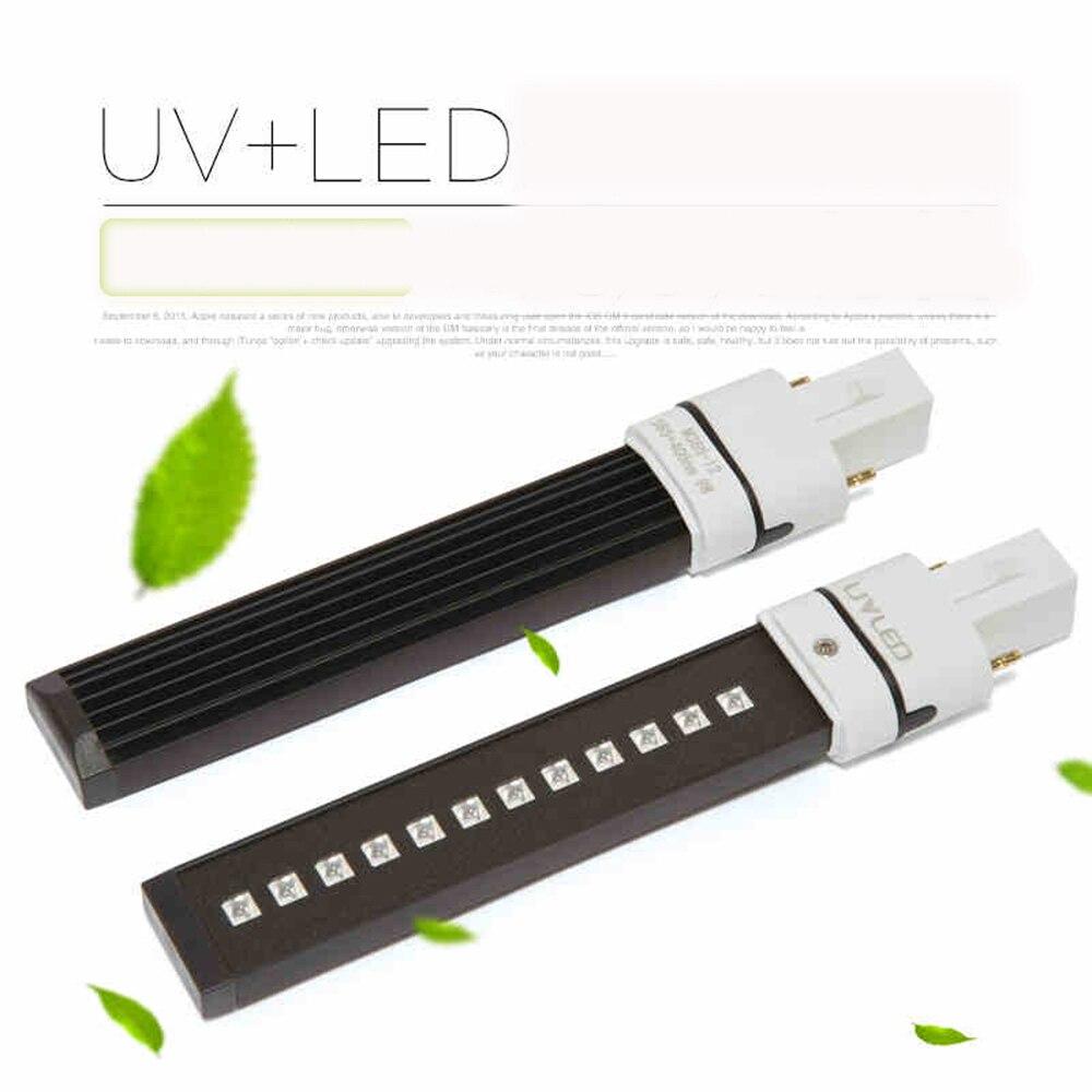 9 w inductive led uv tube de la lampe ampoule pour la lumière uv nail art